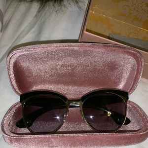 Miu miu sunglasses great condition.